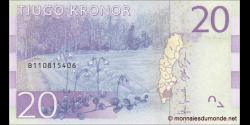 Suède - p69 - 20Kronor - ND (2015) - Sveriges Riksbank