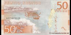 Suède - p70 - 50Kronor - ND (2015) - Sveriges Riksbank