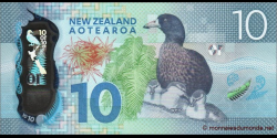 Nouvelle-Zélande - p192 - 10 Dollars - 2015 - Reserve Bank of New Zealand