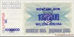 Bosnie Herzégovine - p035b - 1.000.000 Dinara - 10.11.1993 - Narodna Banka Bosne i Hercegovine