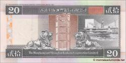 Hong Kong - p201d - 20 Dollars - 01.01.2002 - Hong Kong and Shanghai Banking Corporation Limited