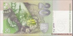 Slovaquie - p34 - 20 Slovenských Korún - 2000 - Národná Banka Slovenska