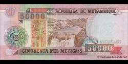 Mozambique - p138 - 50.000 Meticais - 16.06.1993 - República de Moçambique