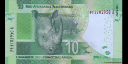 afrique du sud - p133b - 10 rand - ND (2013) - South African Reserve Bank / Suid - Afrikaanse Reserwebank / liBhangi lesiLulu l