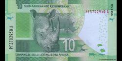 afrique du sud - p133b - 10 rand - ND (2013) - South African Reserve Bank / Suid - Afrikaanse Reserwebank / liBhangi lesiLulu l