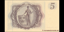 Suède - p50b - 5 Kronor - 1963 - Sveriges Riksbank