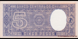 Chili - p119b - 5 pesos - ND (1959) - Banco Central de Chile
