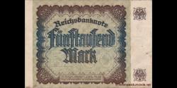Allemagne - p081b - 5.000Mark - 2.12.1922 - Reichsbank