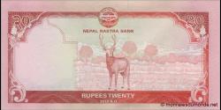 Nepal - p71 - 20Roupies - 2012 - Nepal Rastra Bank