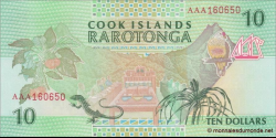 Cook - Islands - p08 - 10Dollars - ND (1992) - Ministry of Finance
