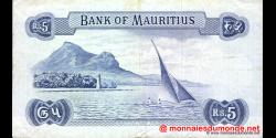 Maurice - p30c - 5 Roupies - ND (1967) - Bank of Mauritius