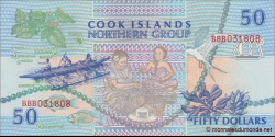 Cook - Islands - p10 - 50 Dollars - ND (1992) - Ministry of Finance