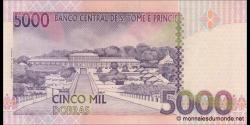 São Tomé-et-Príncipe - p65a2 - 5.000 Dobras - 22.10.1996 - Banco Central de S. Tomé e Príncipe
