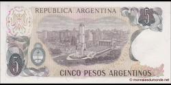 Argentine - p312a(1) - 5 Pesos Argentinos - ND (1983 - 1984) - Banco Central de la República Argentina