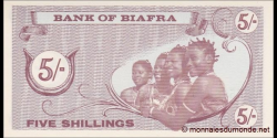 Biafra - p01 - 5 Shillings - ND (1968) - Bank of Biafra