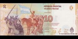 Argentine - p360 - 10Pesos - ND (2016) - Banco Central de la República Argentina