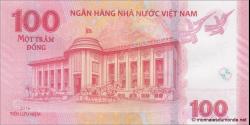 Viêt Nam - p125 - 100Ðồng - 2016 - Ngân Hàng Nhà Nu'ớc Việt Nam (State Bank of Viêt Nam)
