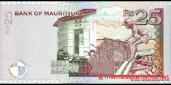 Maurice - p49a - 25 Roupies - 1999 - Bank of Mauritius