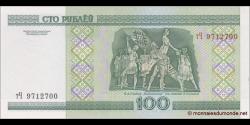 Bielorussie - p26b - 100 Roubles - 2000 - Natsiyanal'ny Bank Respubliki Belarus'