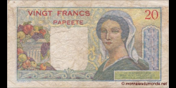 Tahiti - p21c - 20 Francs - ND (1963) - Banque de l'Indochine