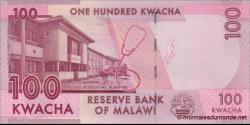 Malawi - p65b - 100 Kwacha - 1.1.2016 - Reserve Bank of Malawi