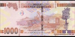 Guinée - p48a - 1.000 francs - 2015 - Banque Centrale de la République de Guinée