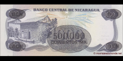 Nicaragua - p150 - 500 000 Córdobas - Res. 17.11.1987 - Banco Central de Nicaragua