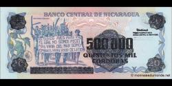 Nicaragua - p163 - 500 000 Córdobas - 1990 - Banco Central de Nicaragua