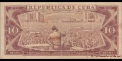 Cuba - p104a - 10Pesos - 1971 - Banco Nacional de Cuba