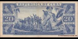 Cuba - p105b - 20Pesos - 1978 - Banco Nacional de Cuba