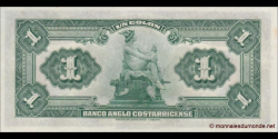 Costa - Rica - pS121 - 1 Colón - L. 23.06.1917 - Banco Anglo Costarricense