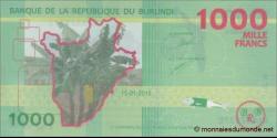 Burundi - p51 - 1.000 Francs - 15.01.2015 - Banque de la République du Burundi / Ibanki ya Republika y'Uburundi