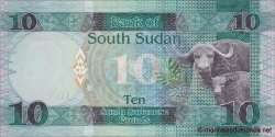 Sud - Soudan - p12a - 10 Pounds - 2015 - Bank of South Sudan