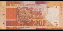 afrique du sud - p142a - 200 rand - ND (2013) - South African Reserve Bank / IBhange Lombuso LaseNingizimu Afrika / Banka ya Ri