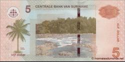 Suriname - p162a - 5 dollars - 01.09.2010 - Centrale Bank van Suriname