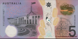 Australie - p62 - 5 Dollars - 2016 - Reserve Bank of Australia