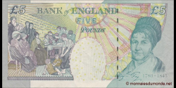 Angleterre - p391b - 5 Pounds - © 2002 - Bank of England