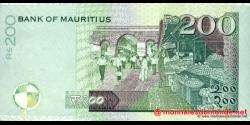 Maurice - p57c - 200 Roupies - 2007 - Bank of Mauritius