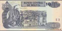 Bolivie - p243 - 10 Bolivianos - L. 28.11.1986 - Banco Central de Bolivia