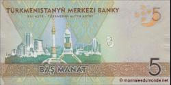 Turkménistan - p30 - 5 Manat - 2012 - Türkmenistanyň Merkezi Banky