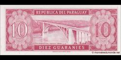 Paraguay - p196b - 10 Guaranies - L. 25.03.1952 (1963) - Banco Central Del Paraguay