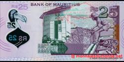 Maurice - p64 - 25 Roupies - 2013 - Bank of Mauritius
