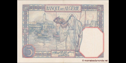 algérie - p077a1 - 5 francs - 20.11.1928 - Banque de l'Algérie