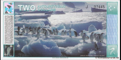 Antarctique - pNL01 - 2 Dollars - 1.03.1996 - Antarctica Overseas Exchange Office LTD.
