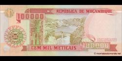 Mozambique - p139 - 100.000 Meticais - 16.06.1993 - República de Moçambique
