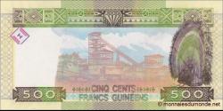Guinée - p47 - 500 francs - 2015 - Banque Centrale de la République de Guinée