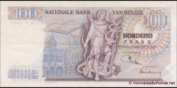Belgique - p134b - 100 Francs / Frank - 13.05.1971 - Royaume de Belgique - Trésorerie / Koninkrijk Belgie - Thesaurie