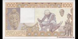 Bénin - P207Be - 1 000 francs - 1985 - Banque Centrale des États de l'Afrique de l'Ouest