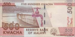 Malawi - p66a - 500 Kwacha - 01.01.2014 - Reserve Bank of Malawi