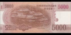 Corée du Nord - p76 - 5.000 Won - 2013 - Central Bank of the Democratic Peoples Republic of Korea